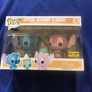 Stitch Scrump and Angel Funko Pop 3 pack